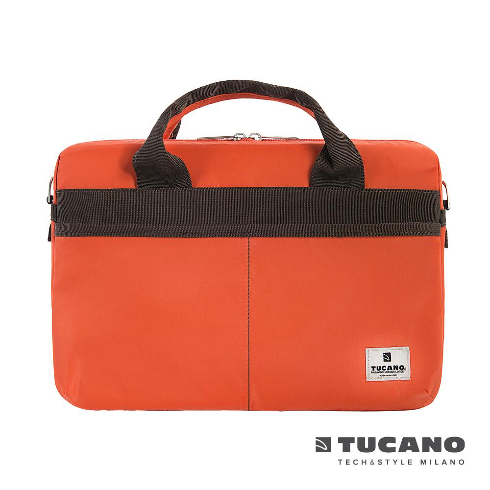 TUCANO Shine slim 13.3吋薄型輕便手提肩背二用電腦包-橘