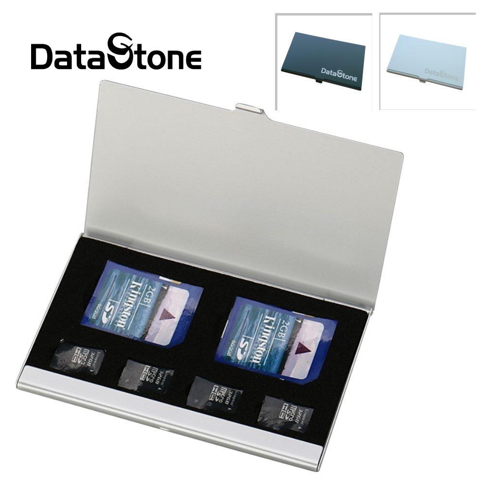 DataStone 名片型鋁合金 2SD+4TF 多功能記憶卡收納盒