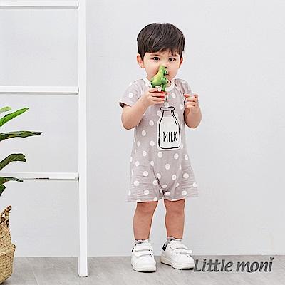 Little moni 牛奶印花連身褲 (3色可選)