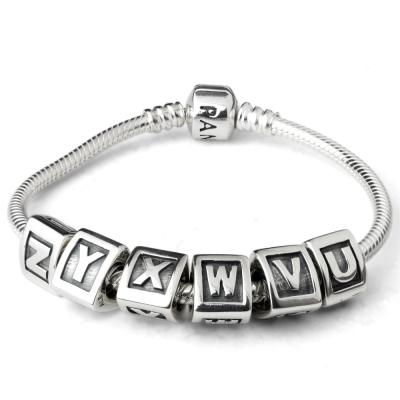 Pandora潘朵拉刻字字母純銀墜U-Z