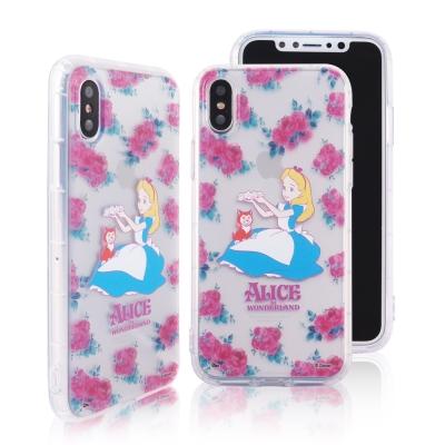 Disney迪士尼iPhone X花花世界防摔氣墊空壓保護套 愛麗絲
