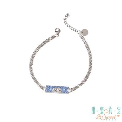 甜蜜約定 Doraemon 神秘哆啦A夢白鋼手鍊-藍