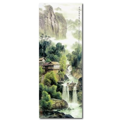 24mama掛畫 - 單聯無框圖畫藝術家飾品掛畫油畫-染成綠幽暗覺香-30x80cm