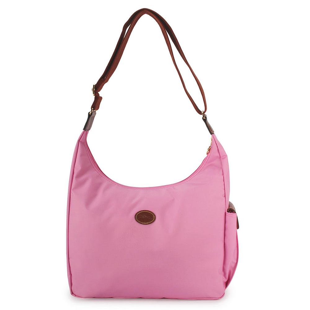 Longchamp 豔彩繽紛大斜背包-粉紅色LONGCHAMP