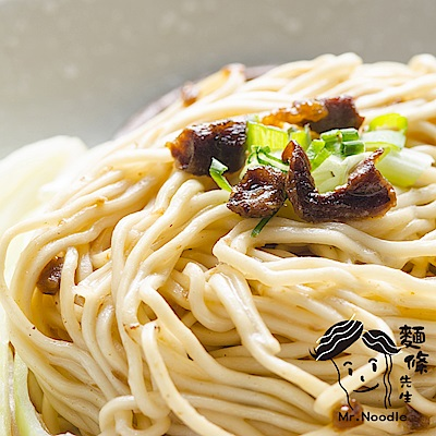 麵條先生 油蔥香菇手工乾拌麵(4入/袋)