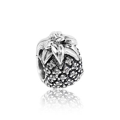 Pandora 潘朵拉 魅力鑲鋯鳳梨 純銀墜飾 串珠