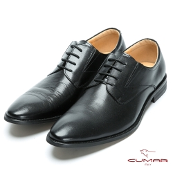 CUMAR 英倫紳士 真皮簡約紳士皮鞋-黑