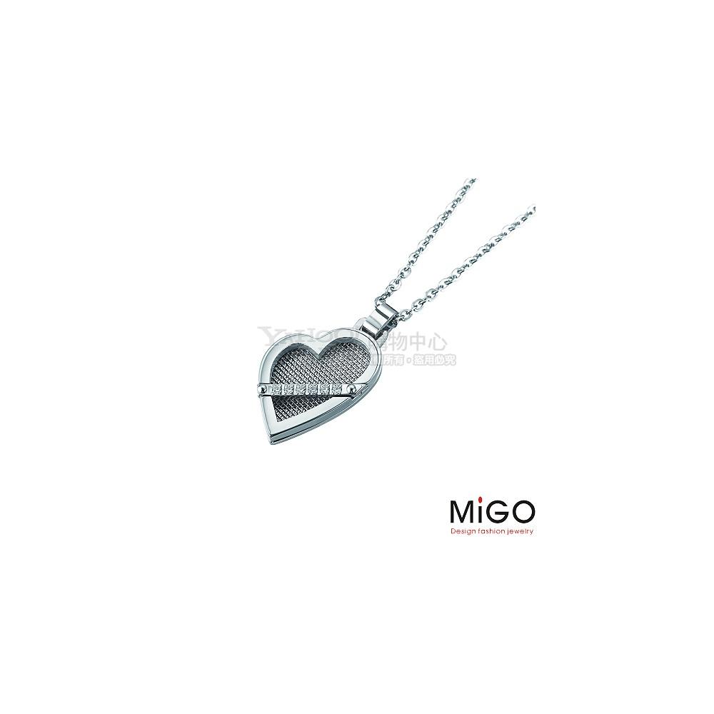 MiGO-擁抱 白鋼項鍊