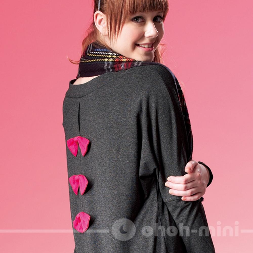 【ohoh-mini】蝴蝶翩翩寬袖短版上衣