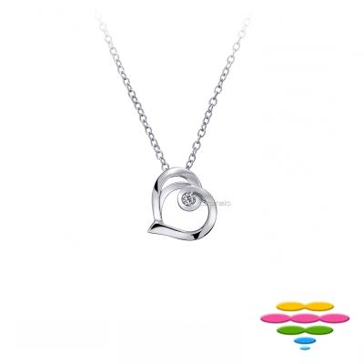 彩糖鑽工坊 10K 愛心鑽石項鍊 情有獨鍾系列