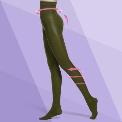 Bast-芭絲媞-塑身-纖柔極塑美腿襪-軍綠