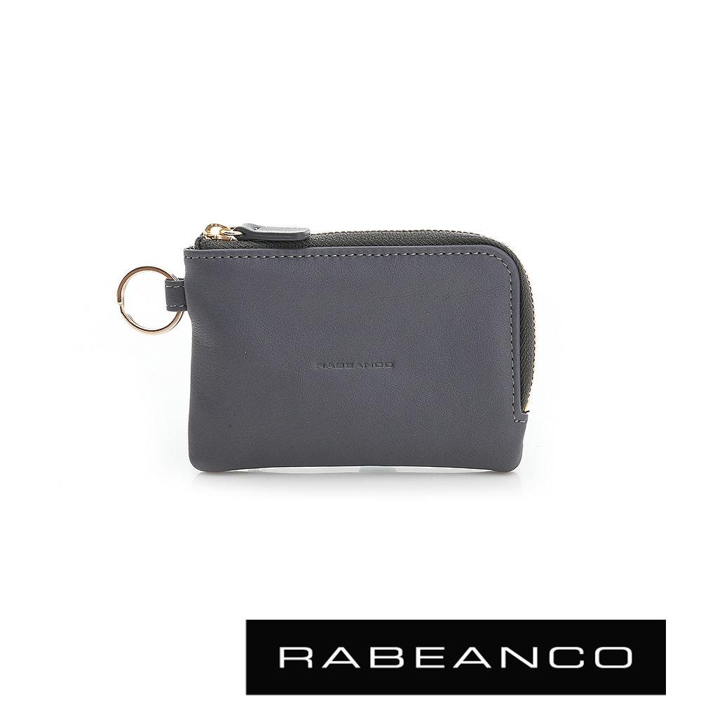 RABEANCO 經典小牛皮萬用鑰匙零錢包 – 暗灰