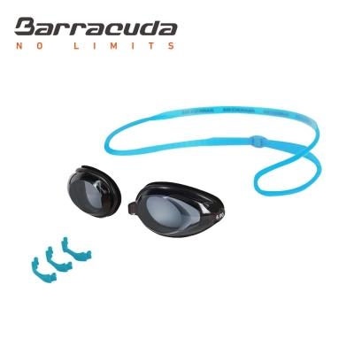 美國巴洛酷達Barracuda成人近視泳鏡-藍色頭帶#2195