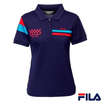 FILA吸濕排汗POLO衫5POQ-1445-DB