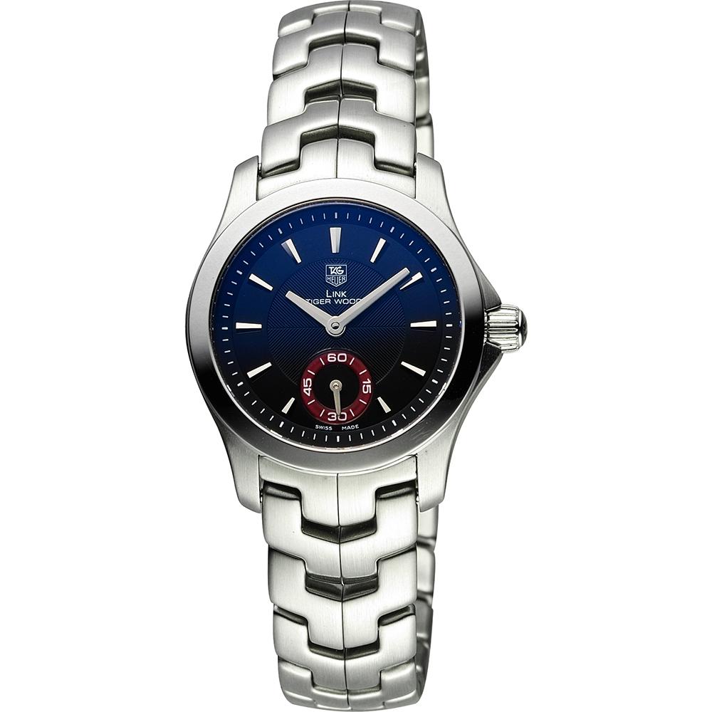 TAG HEUER 豪雅 LINK 系列運動風尚200米小秒針腕錶-黑x銀/28mm