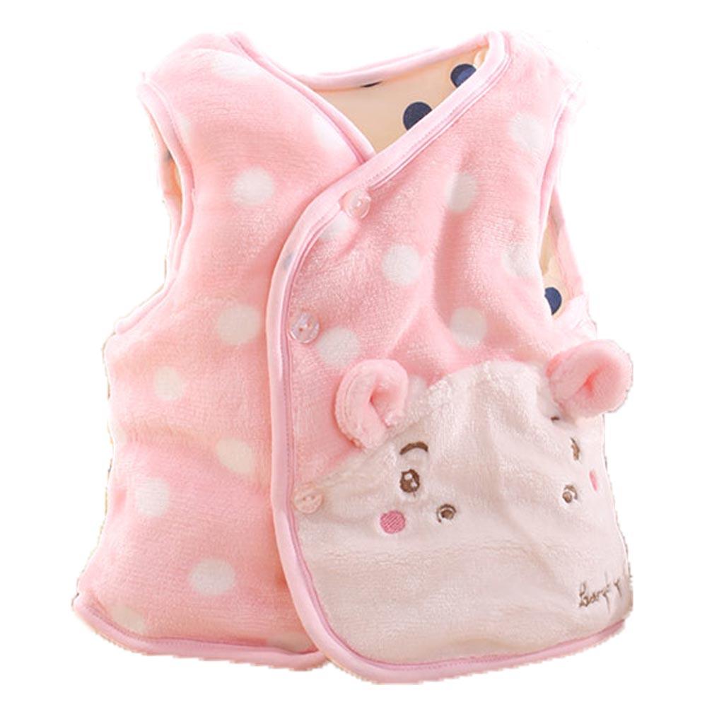 小河馬嬰幼兒鋪棉絲絨保暖外套 粉  k60055