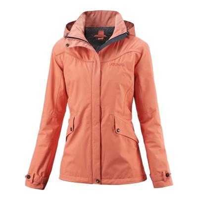 歐都納 GORE-TEX 女款防風防水透氣單件式外套 A-G1404W 深紅