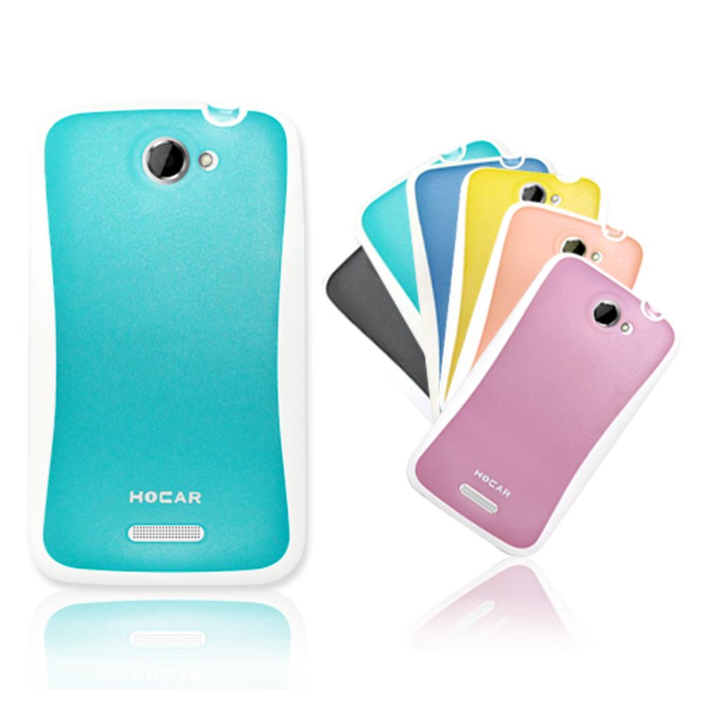 HOCAR HTC ONE X 極速機 雙色果漾 冰沙保護殼