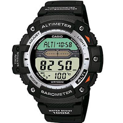 CASIO 登峰測高抗溫數位休閒錶(SGW-300H)-膠帶款