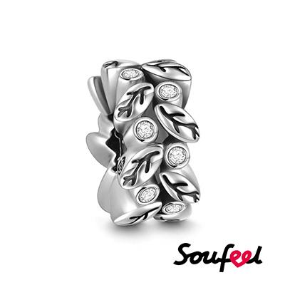 SOUFEEL索菲爾 925純銀珠飾 藤蔓 定位珠