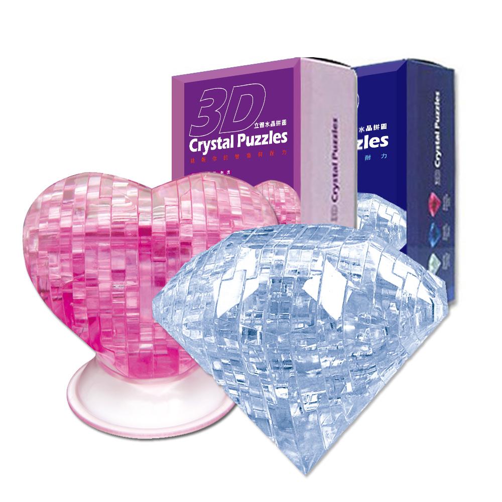 《3D Crystal Puzzles》立體水晶拼圖-堅定愛情鑽石真心組
