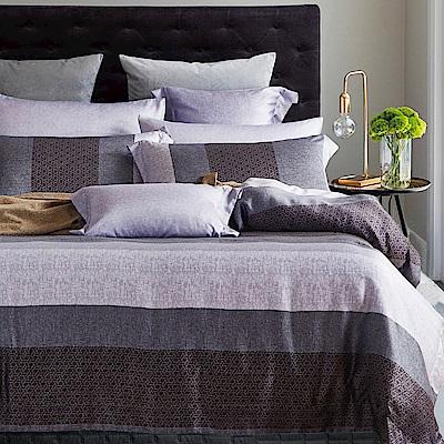 Ania Casa 天絲 TENCEL-雙人鋪棉兩用被套床包四件組- 浪漫線條-灰