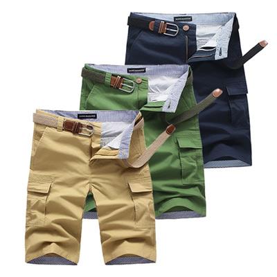 美國熊 街頭風格‧多口袋 水洗面料‧工作短褲