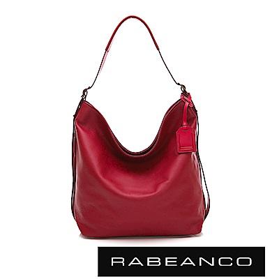 RABEANCO 時尚粉領系列垂墜肩背包 石榴紅