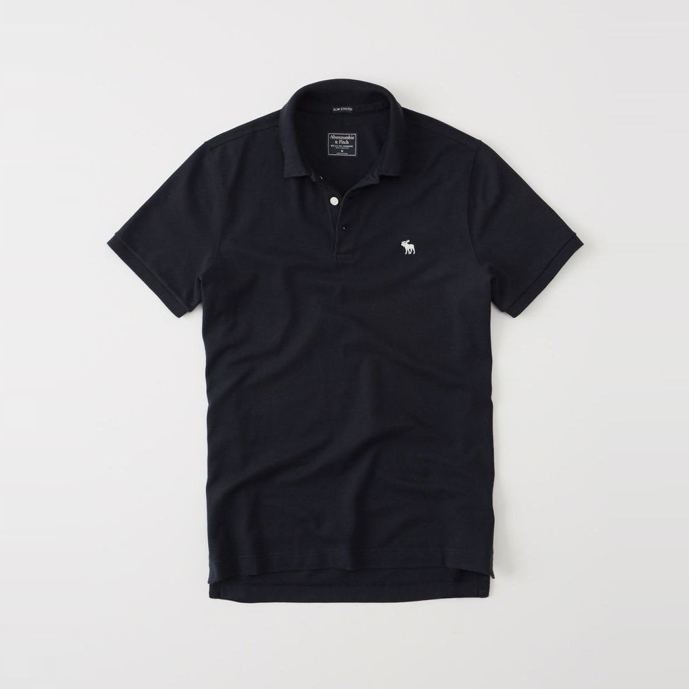 AF a&f Abercrombie & Fitch POLO 藍色 350