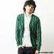 ZIP日本男裝 英倫直條紋針織開襟衫綠色