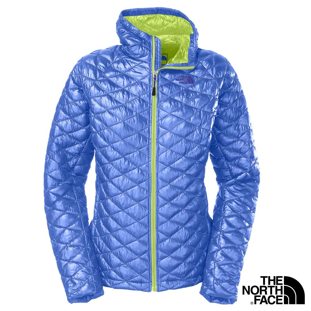 The North Face 女 THERMOBALL 保暖兜帽外套 海岸線藍