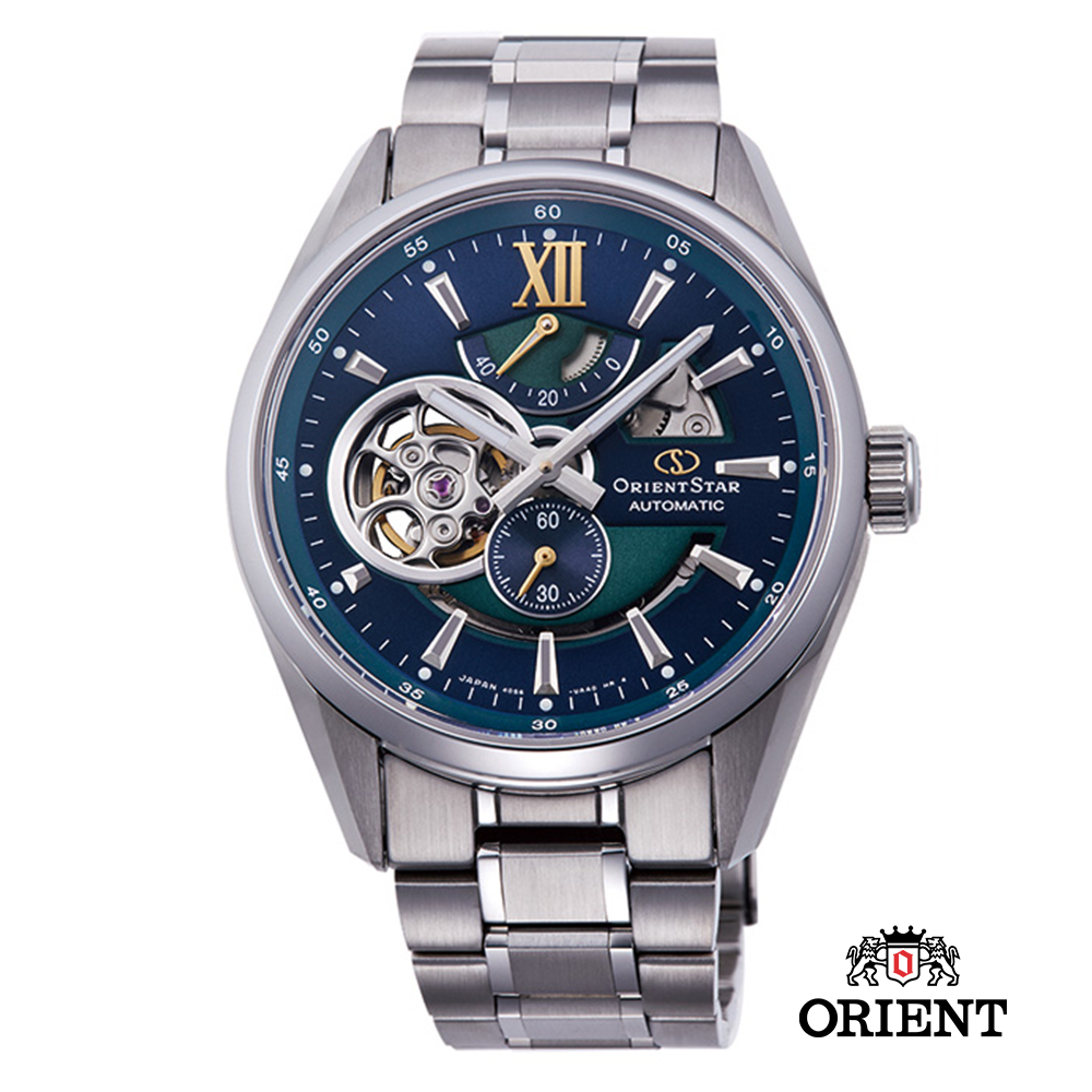 ORIENT STAR 東方之星 OPEN HEART系列 鏤空機械錶 鋼帶款41mm