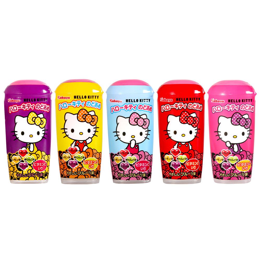 Kabaya卡巴 凱蒂貓水果糖罐(35gx5罐)