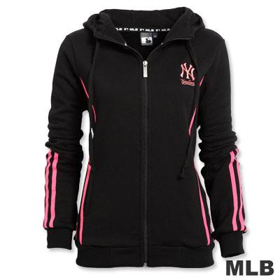 MLB-紐約洋基隊撞色粉條外套-黑(女)