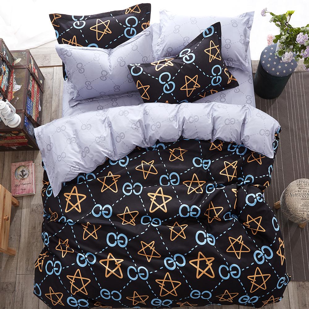 Alieen 個性印花 四件式被套床包組 加大 史蒂芬
