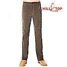 【hilltop山頂鳥】男款吸濕排汗抗UV彈性長褲S07MB5-雀啡
