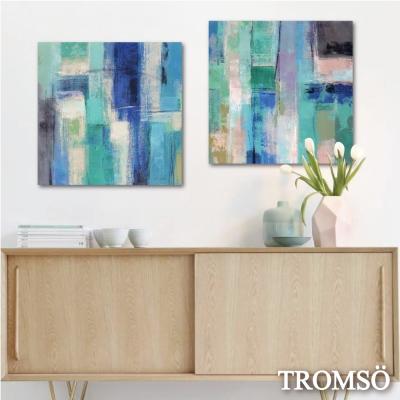 TROMSO時尚無框畫/意境藍綠