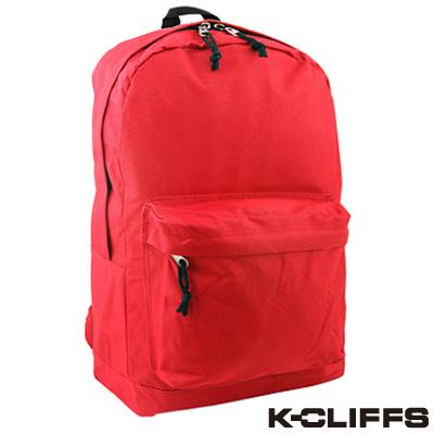 美國K-CLIFFS -輕巧休閒雙肩後背包-休閒紅