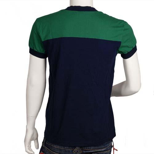 McQueen 藍 X 綠 V 領衫