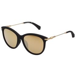 Calvin Klein- 小貓眼 太陽眼鏡(黑配金)CKJ514SAF