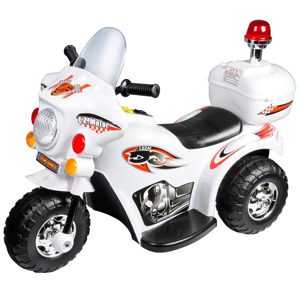 寶貝樂皇家警察兒童電動摩托車電動機車-白色