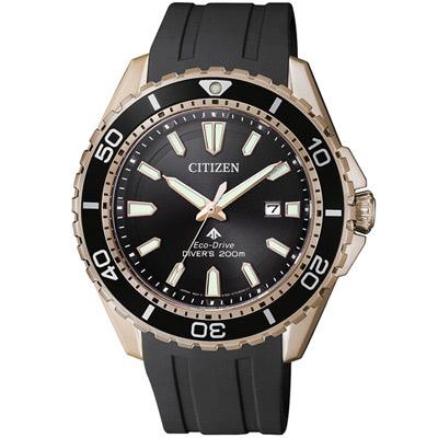 CITIZEN PROMASTER光動能腕錶(BN0193-17E)-黑x金/44.5mm