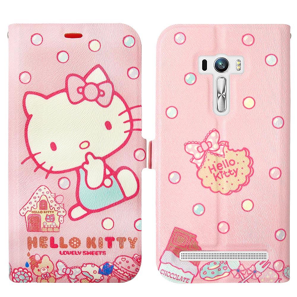 Hello Kitty貓 ASUS Zenfone Selfie磁力皮套(甜點sweet)