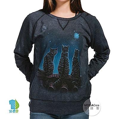 摩達客 美國The Mountain 貓的願望 女版休閒長袖T恤
