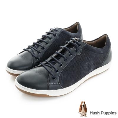 Hush Puppies Tygo 運動風時尚休閒鞋-藍色