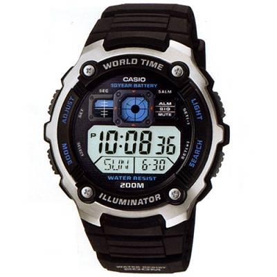 CASIO深海潛將數位電子膠帶錶AE-2000W-1A