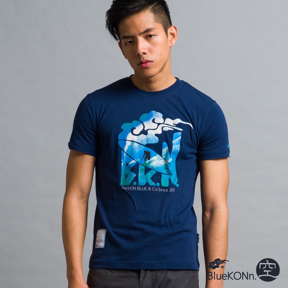 空 BLUE WAY 沖浪印花短袖T恤-丈青