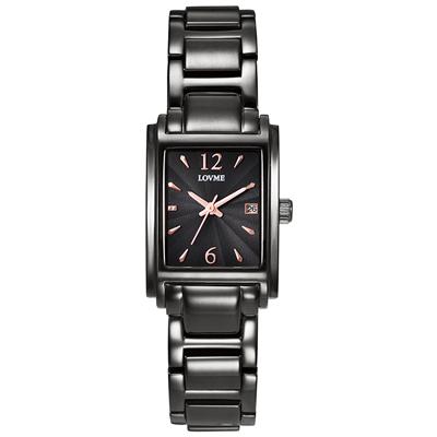 LOVME Delicate時尚腕錶-IP黑x玫/23mm