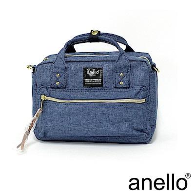 日本正版anello 手提斜背包 AT-C1223 淺藍丹寧 DBL