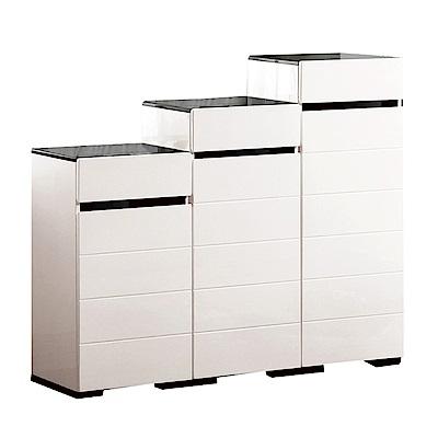 品家居 托菲4尺三門三抽鞋櫃組合-120x32.5x108.5cm免組